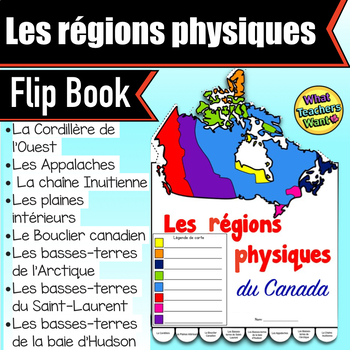 Physical Regions of Canada Flip Book in French - Les Régio