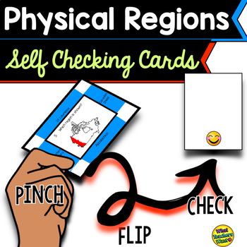 Physical Regions of Canada Self Checking Cards