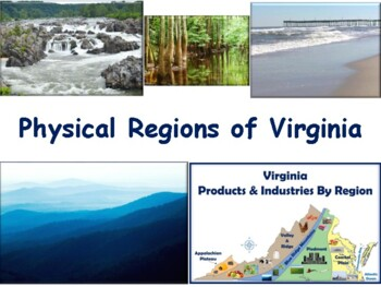 VA Studies: Physical Regions Flashcards- task cards, study guide, exam prep