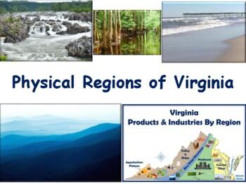VA Studies: Physical Regions Lesson - classroom unit, study guide, exam prep