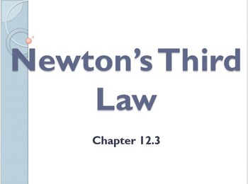 Physical Science: 12.3 Newton's Third Law