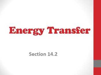 Physical Science: 14.2 Energy Transfer