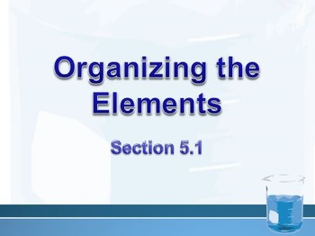 Physical Science: 5.1 Organizing the Elements
