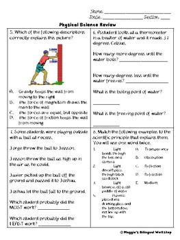 Physical Science 5th grade review