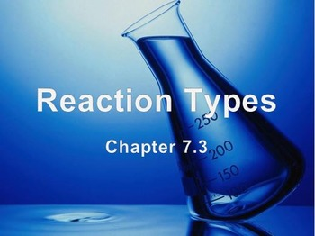 Physical Science: 7.3 Reaction Types
