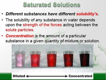 Physical Science: 8.3 Solubility and Concentration