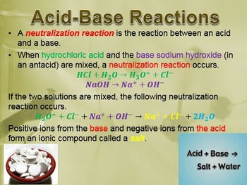 Physical Science: 9.2 Reactions with Acids and Bases