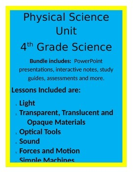 Physical Science BUNDLE - 4th Grade Science