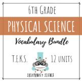 Physical Science VOCABULARY PRESENTATION BUNDLE - 6th Grade TEKS {Updated 2019}