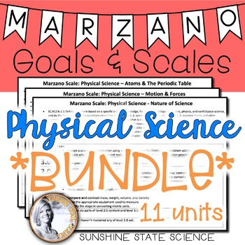 Physical Science BUNDLE Marzano Scales