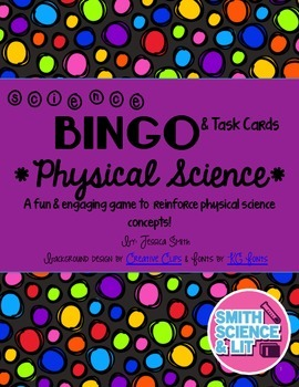 Physical Science Bingo