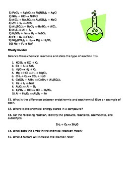 Physical Science- Block Schedule- Chemical Reaction Lesson Plan