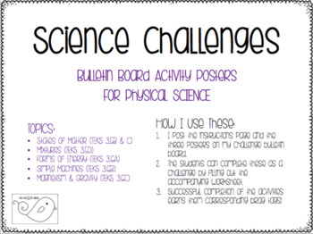 Physical Science Challenges Bulletin Board Set