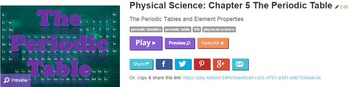 Physical Science: Chapter 5 The Periodic Table Kahoot! Review Game