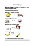 Physical Science: Chemical Changes In Matter