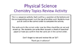 Physical Science Chemistry Review Card Sequence