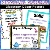 Physical Science Classroom Decor Posters