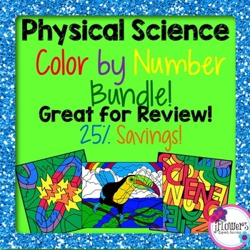 Physical Science Color by Number Bundle! 25% Savings!!