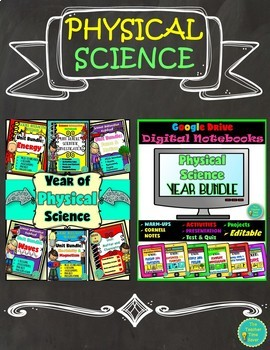 Physical Science Complete Year Bundle (Editable Notes and Google Drive)