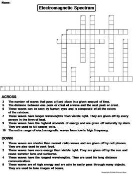 Physical Science Crossword Puzzles Bundle: Energy, Matter, Scientific Method etc