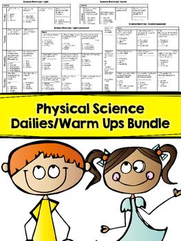 Physical Science Dailies - (Warm Ups) Bundle