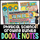 Physical Science Doodle Notes Growing Bundle | Science Doo