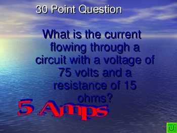 Physical Science Electric Current & Circuits Review Jeopardy