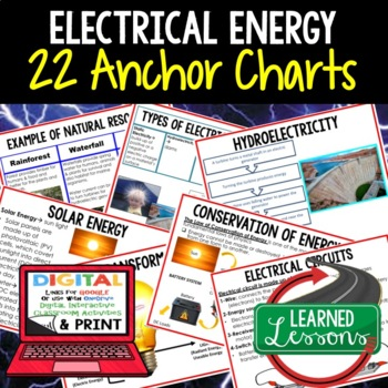 Physical Science Electrical Energy 22 Anchor Charts