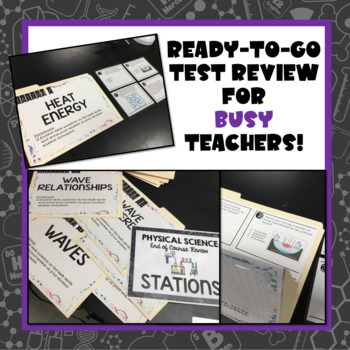 Physical Science (End of Year) Review Task Cards