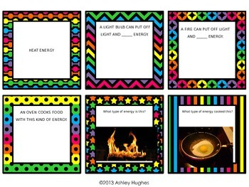 Physical Science: Energy Review Task Cards