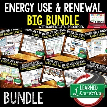 Physical Science Energy Use & Renewal (Physical Science BUNDLE)