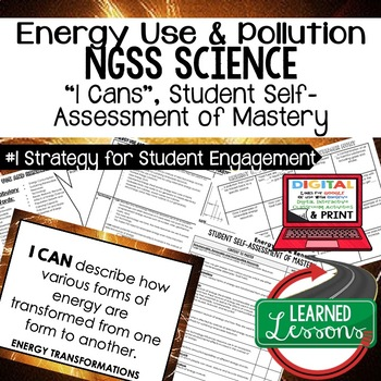 Physical Science Energy Use & Renewal Student Self Assessment I Cans