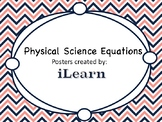 Physical Science Equations Posters