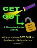 Physical Science Escape Classroom