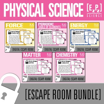 Physical Science Escape Room Bundle- Distance Learning