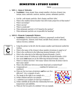 Physical Science Exam Review Study Guide