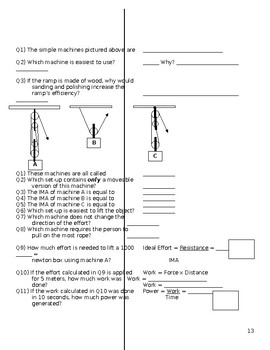 Physical Science Final Exam Review Packet with Answer Key