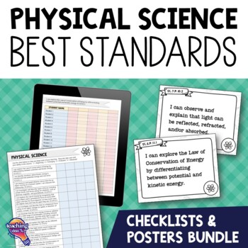 Physical Science Florida Standards Posters & Checklists Bundle