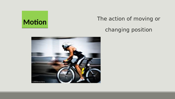 Physical Science: Force and Motion Vocabulary PowerPoint