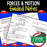 Physical Science Forces and Motion Student and Teacher Guided Notes