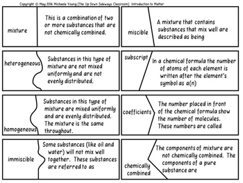 Physical Science Bundle of Puzzle Matching Review Vol #2 (Chemistry)