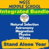 Integrated STEM NGSS Middle School Science Growing MEGA Bundle Complete Year