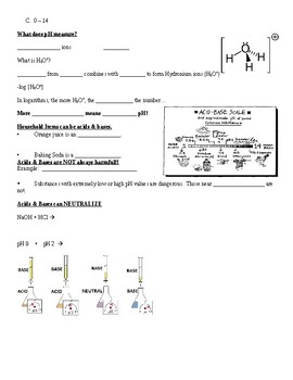 Physical Science Guided Notes (for Acids & Bases PowerPoint)