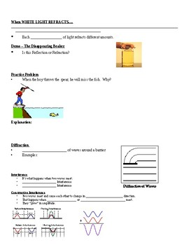 Physical Science Guided Notes (for Behavior of Waves PowerPoint)