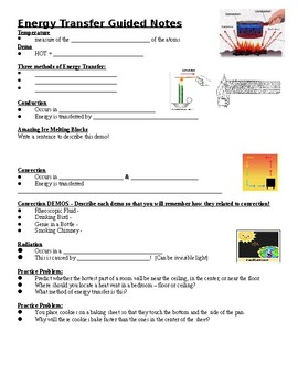 Physical Science Guided Notes (for Energy Transfer PowerPoint)