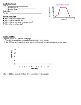 Physical Science Guided Notes (for Graphing Motion PowerPoint)