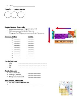 Physical Science Guided Notes (for Naming Compounds PowerPoint)