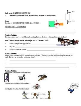 Physical Science Guided Notes (for Newton's Laws of Motion PowerPoint)