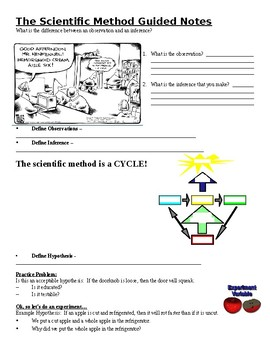 Physical Science Guided Notes (for The Scientific Method PowerPoint)