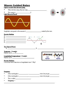 Physical Science Guided Notes (for Waves PowerPoint)